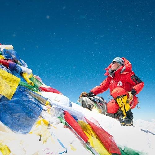 Мелисса Арно (Melissa Arnot) на вершине Эвереста 23 мая 2016 года