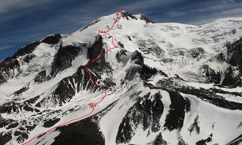 Схема восхождения на Эльбрус по Западному ребру.