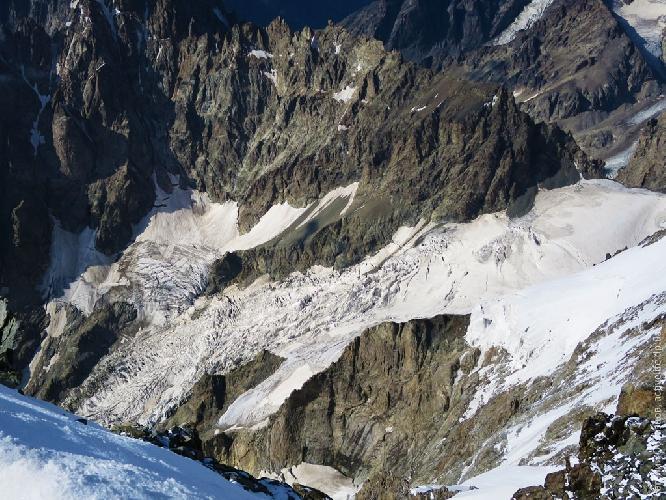 Ушбинский ледник — подход на подушку
