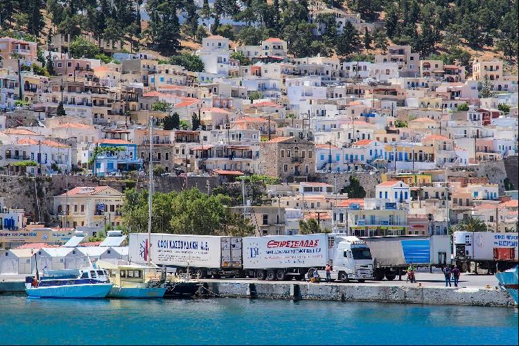 Главный порт Калимноса – Потия, место куда прибывают паромы.