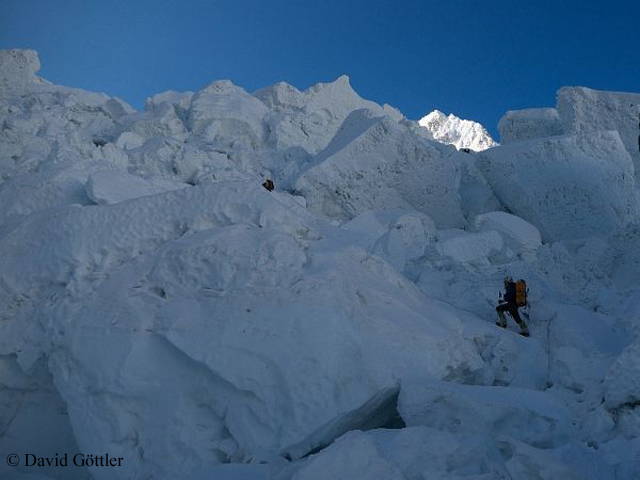 На ледопаде Кхумбу