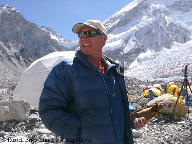 Рассел Брайс в базовом лагере Эвереста