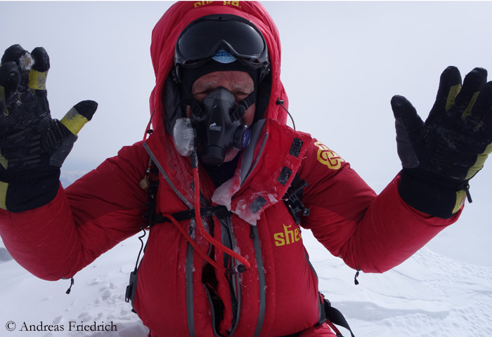 Андреас Фридрих (Andreas Friedrich) на Эвересте