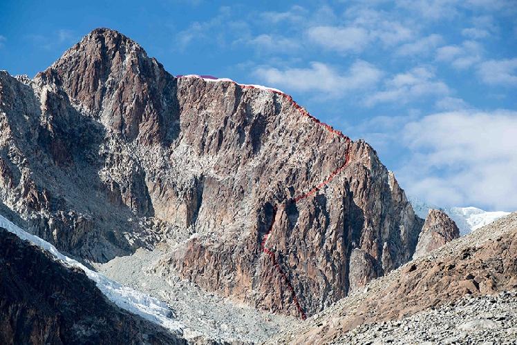 """Маршрут """"Mindfulness"""" по контрфорсу Западной стены горы Руми Маллку (Rumi Mallku, 5900 метров)"""