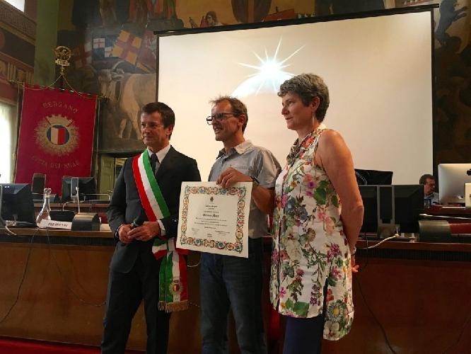 Симоне Моро (Simone Moro) стал почетным гражданином города Бергамо,