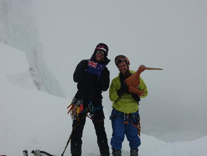 Пиит и Джез на горе Парон (Paron Sur, 5500 м)