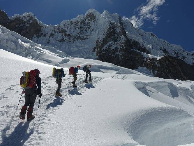 На леднике Алпамайо