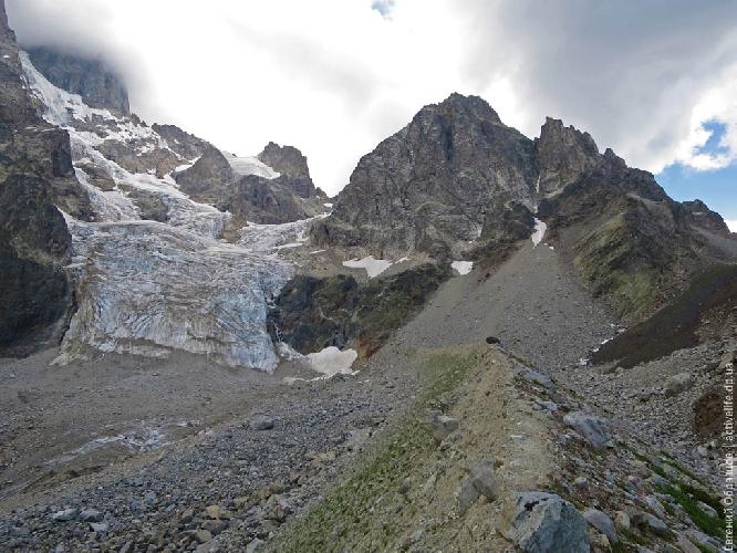 Моренный вал ледника — опасный крутой конгломерат