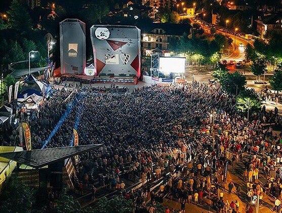 Арена Кубка Мира по скалолазанию в Шамони