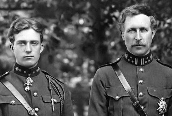 Альберт Первый с сыном Леопольдом в военные годы