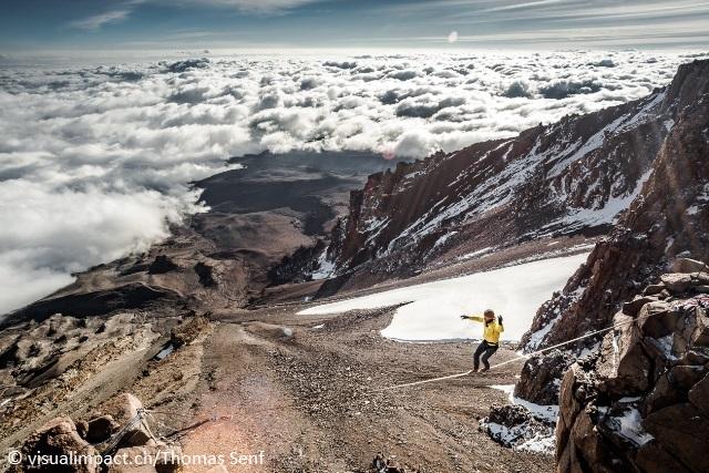 Штефан Сигрист (Stephan Siegrist) в прохождении рекордно хайлайна на Килиманджаро