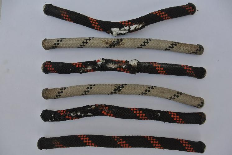 веревки, пострадавшие от молнии