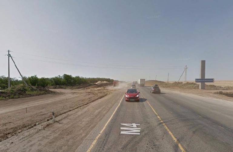 Место ДТП на Google Street View 2013 года