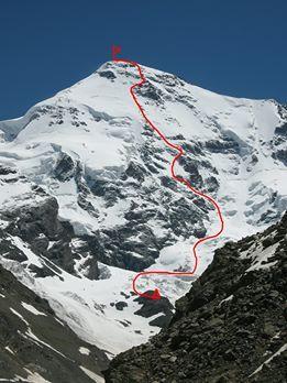 Киевские альпинисты взошли на гору Гестола в Грузии