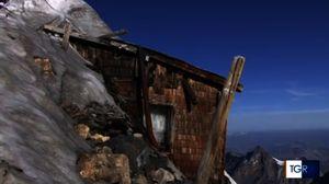 Под ледником в Ортлерских Альпах обнаружили хижину времён I Мировой войны
