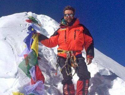 Киевский альпинист Андрей Вергелес взошел на восьмитысячник Манаслу в Непале!