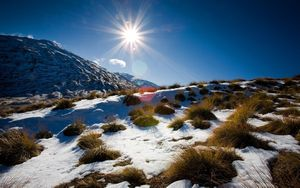 Альпы теряют снег