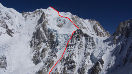 Планируемый маршрут на Берк-Канг (Burke-Khang) высотой 6942 метра