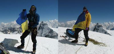 Первопрохождение украинских альпинистов по Северной стене Тетнульда