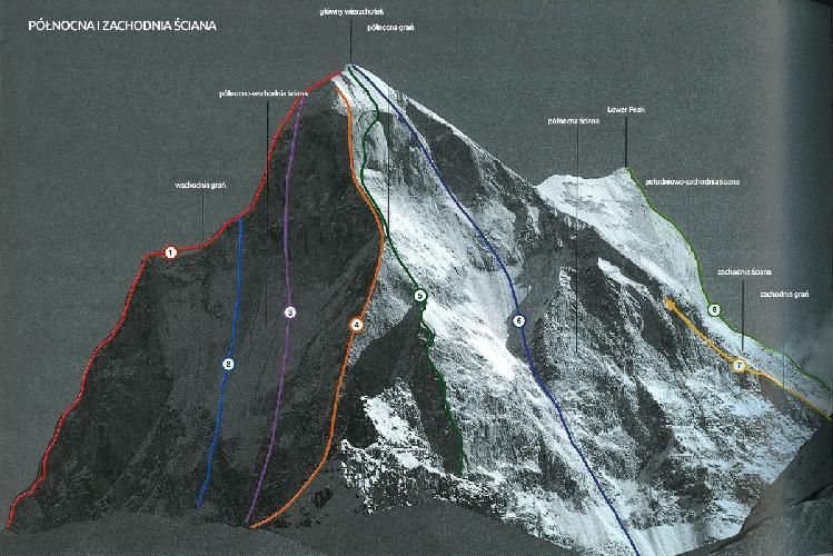 """Северное ребро Shivling (6543m). Маршрут """"Shivas line"""" 2000 года под номером 4"""