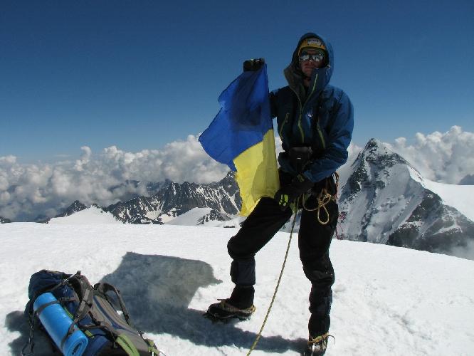 Михаил Поддубнов на вершине
