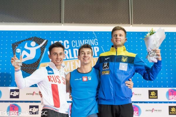 Украинец Даниил Болдырев - бронзовый призер Кубка Мира 2016 года по скалолазанию!