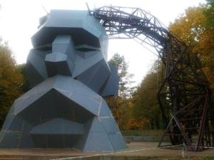 В Ровно строится уникальный в Украине скалодром - в виде головы козака