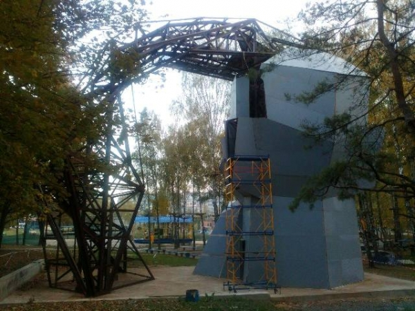 Строительство скалодрома в Ровно