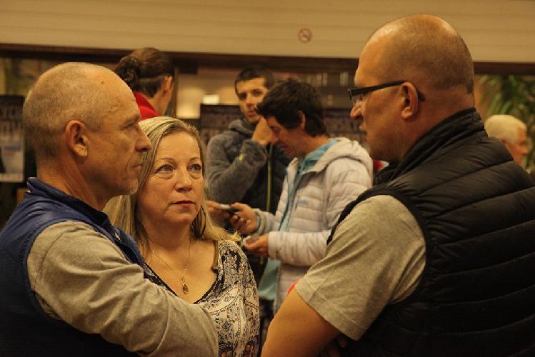 Организаторы фестиваля в Попраде: слева - Петер и Мария Хаморы