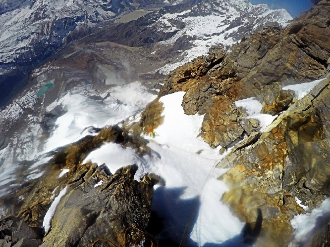 Восхождение по маршруту Romanian Flame на вершину Peak-5, также известную под именем Салдим (Saldim) или Салдим Ри (Saldim Ri)