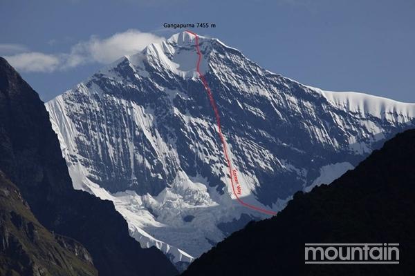 Новый корейский маршрут на южной стене горы Гангапурна (Gangapurna, 7455 метров)