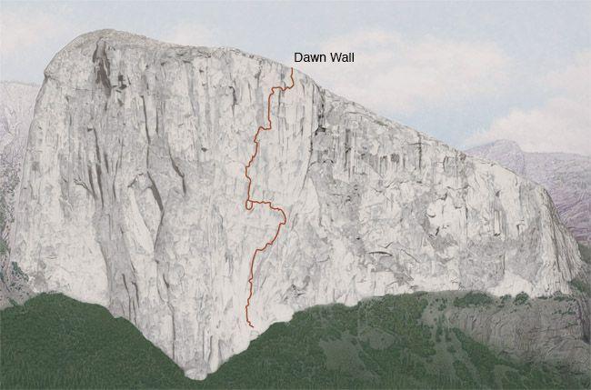 """маршрут """"Dawn Wall"""" на Эль-Капитане (Йосемити, США)."""