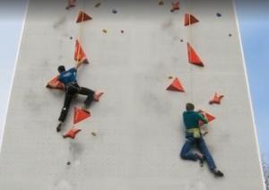 Первая демонстрация возможной эталонной скалолазной трассы к Олимпийским Играм в Токио 2020