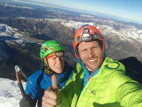 Том Баллард (Tom Ballard) и Марчин Томашевский (Marcin Tomaszewski) на вершине Эйгера
