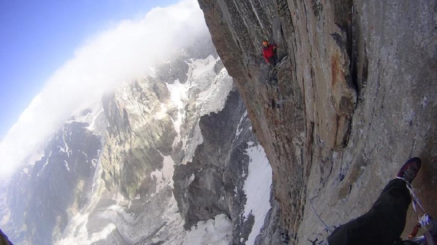Альпинизм. Вверх по стене. Фото из личного архива Бекара Паджишвили
