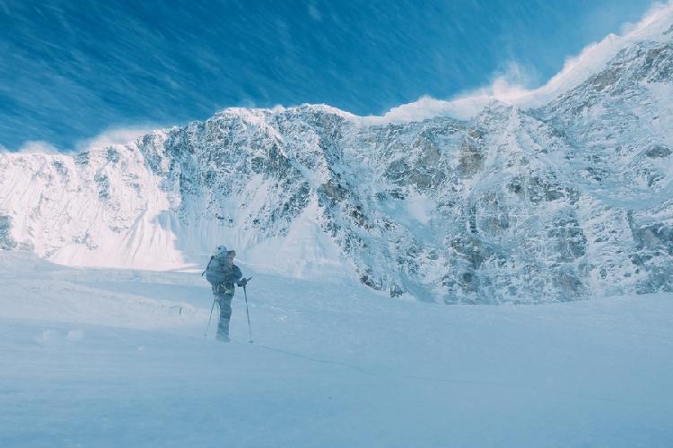 У Северной стены горы  Гиммигела Восточная (Gimmigela East, 7005 м)