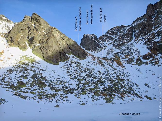 Верховья долины Зломиск (справа — северная сторона стены Коньчистой)