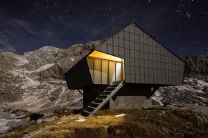 Горная хижина, переделанная из бункера: бесплатное убежище на ночь