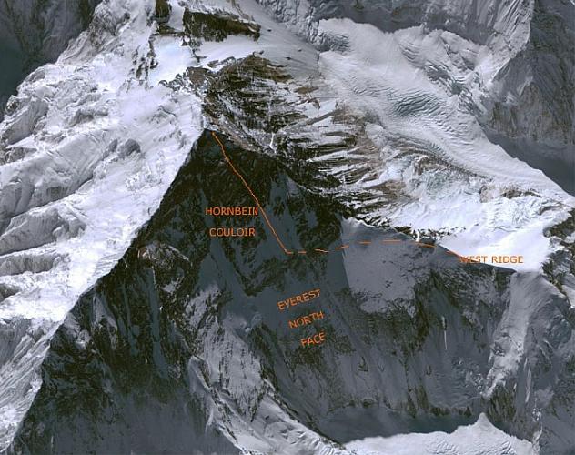 Маршрут Нобуказу Курики (Nobukazu Kuriki) по Западному склону на Эверест