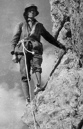 Обвязка альпиниста в начале ХХ века