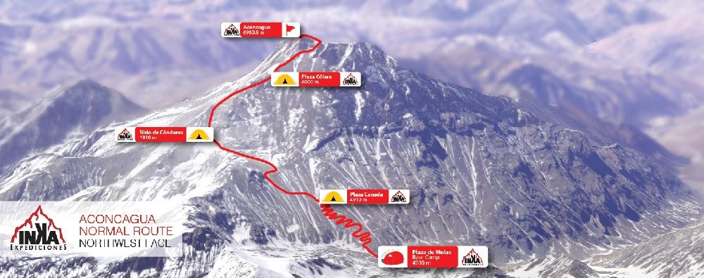 Стандартный маршрут восхождения на Аконкагуа