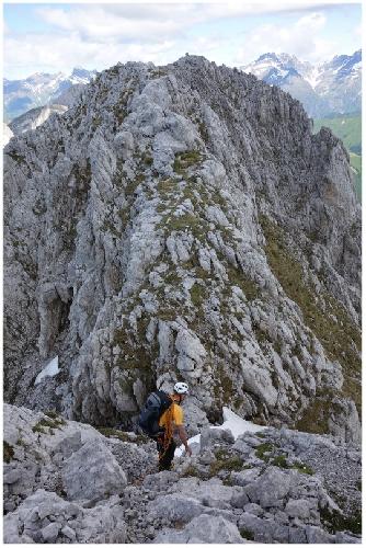 Опасный участок  в районе горы Презолана (Pizzo della Presolana)