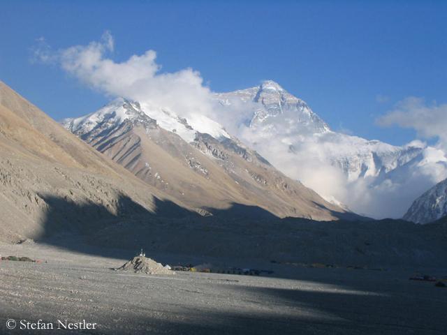 Вид на Эверест со стороны Китая