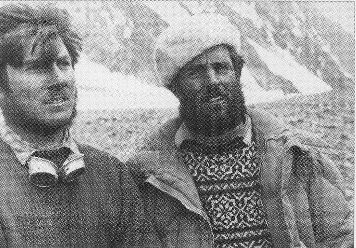 Вальтер Боннати и Эрих Абрам в экспедиции 1954 года