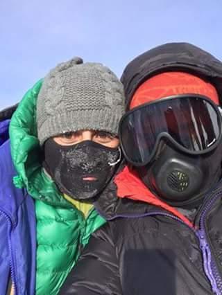 Самина и Сив на вершине Koh-е-Zamiston