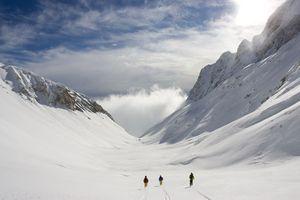 В Италии снежная лавина сошла на альпинистов