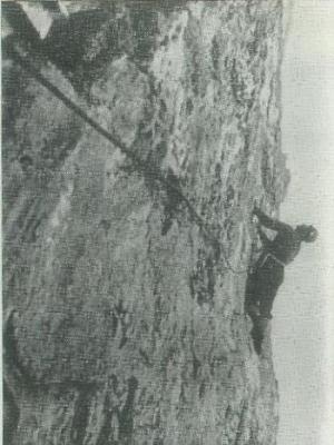 М.Хергиани на своей последней стене