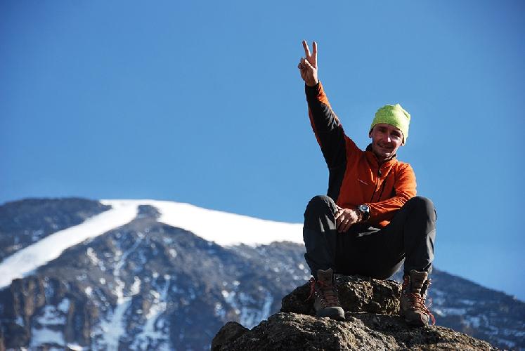 Петр Погон на Килиманджаро. Фото: К. Ликус