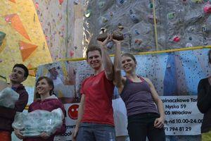 Павел Векла - победитель традиционных польских скалолазных соревнований Imadło Tarnogaju