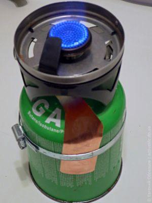 Теплообменник для обогрева баллона горелки
